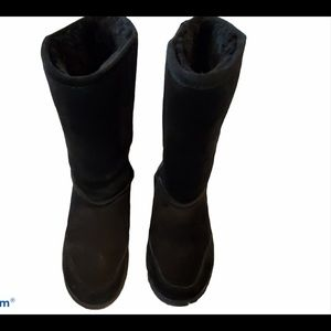 Bjorndal Lily Black Suede Boots Size 7